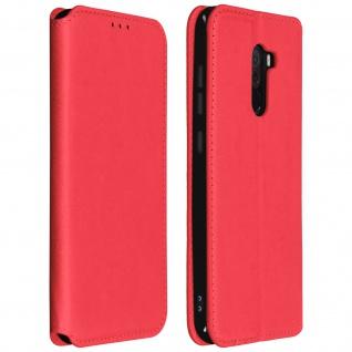 Flip Kunstleder Cover Geldbörse Classic Edition Xiaomi Pocophone F1 - Rot