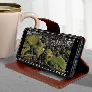 Flip Stand Cover Brieftasche & Standfunktion Huawei Honor 8X - Braun - Vorschau 4