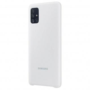 Original Samsung Soft Touch Cover Silikon für Samsung Galaxy A51 - Weiß