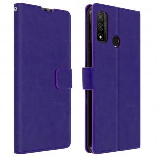 Flip Stand Case Brieftasche & Standfunktion für Huawei P smart 2020 ? Violett
