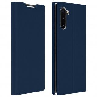Flip Cover, Klappetui mit Kartenfach & Standfunktion Galaxy Note 10 Dunkelblau - Vorschau 1
