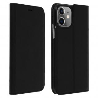 Muvit Flip Wallet Cover, Handyhülle für Apple iPhone 11 - Schwarz