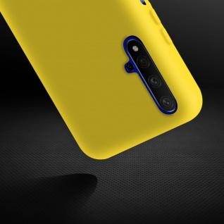 Halbsteife Silikon Handyhülle Honor 20, Huawei Nova 5T, Soft Touch - Gelb - Vorschau 4