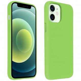 Halbsteife Silikon Handyhülle Apple iPhone 12 Mini, Soft Touch - Grün