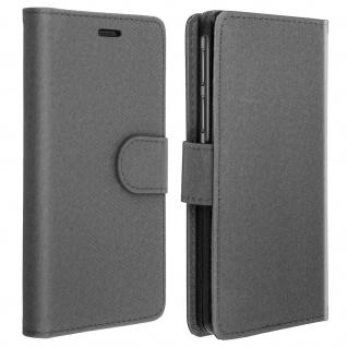 Universal Klapphülle, Etui mit Geldbörse für Smartphones Größe XXL - Grau