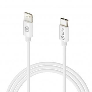 Prio 1m Silikon USB-C auf Lightning Lade-/Datenkabel Power Delivery Technik Weiß