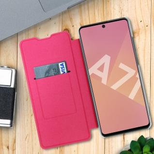 Flip Book Cover, Klappetui aus Kunstleder für Samsung Galaxy A71 - Rosa - Vorschau 3