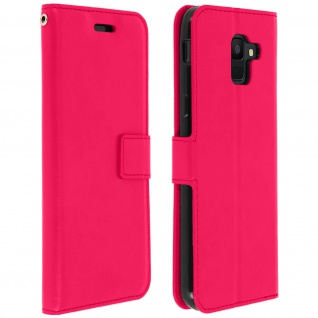 Flip Cover Stand Case Brieftasche & Standfunktion Samsung GalaxyA6 - Fuchsienrot