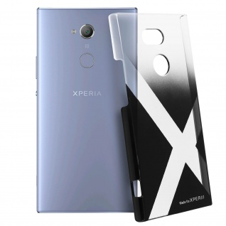 Transparente Crystal Case Made for Xperia für Sony Xperia XA2 Ultra - Schwarz