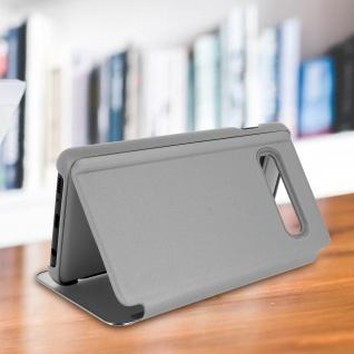Samsung Galaxy S10 Plus Flip Cover mit Spiegeleffekt & Standfunktion - Silber - Vorschau 3