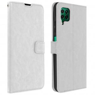 Flip Stand Case Brieftasche & Standfunktion für Huawei P40 Lite - Weiß