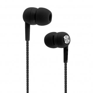 Devia in-ear Kopfhörer 3.5mm Klinkenstecker, Mikrofon & Fernbedienung - Schwarz