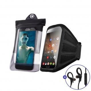 Outdoor-Aktivitäten Set: Sport Bluetooth Kopfhörer + Sportarmband + Hülle