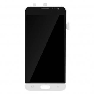Ersatzdisplay mit Galaxy J3 (2016) kompatibel, Scheibe vormontiert - Weiß
