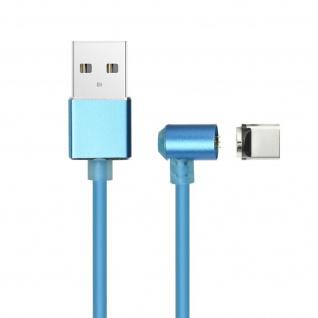 Magnetisches USB/ USB-C Ladekabel Nylon 1m + magnetische USB-C Adapter - Silber - Vorschau 2