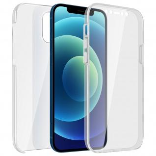 Schutzhülle für Apple iPhone 12 / 12 Pro, Vorder- + Rückseite ? Transparent