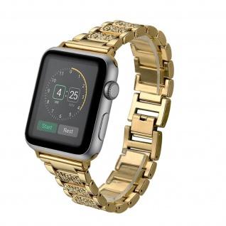 Apple Watch 38 / 40mm Armband Diamonds, Edelstahl Armband ? Gold