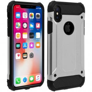 Defender II schockresistente Schutzhülle (1, 80M) Apple iPhone X / XS - Silber
