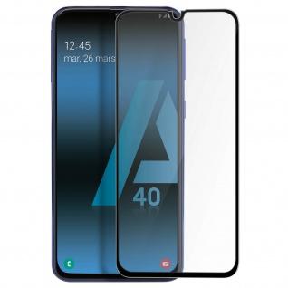 Premium Panzerglas Schutzfolie für Samsung Galaxy A40 - Rand Schwarz