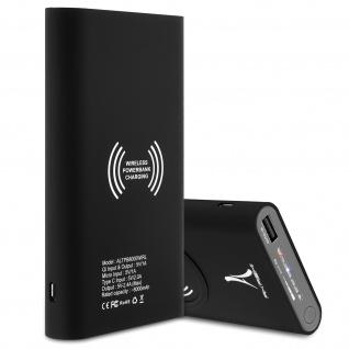 8000 mAh Powerbank 2x USB-Ports 2.1A + USB-C Port & QI Ladegerät - Akashi