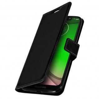 Flip Stand Cover Brieftasche & Standfunktion für Motorola Moto G7 Play - Schwarz - Vorschau 2