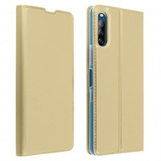 Klappetui mit Kartenfach & Standfunktion Sony Xperia L4 - Gold