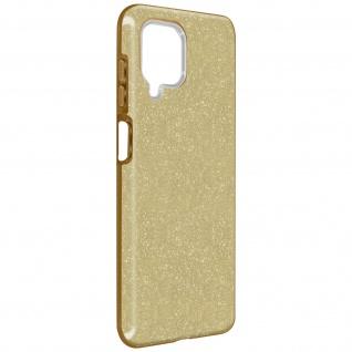 Schutzhülle, Glitter Case für Samsung Galaxy A12, shiny & girly Hülle â€? Gold