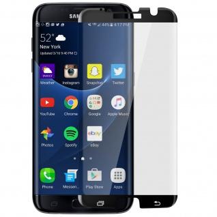 Displayschutzfolie mit abgerundeten Kanten Samsung Galaxy S7 Edge - Schwarz