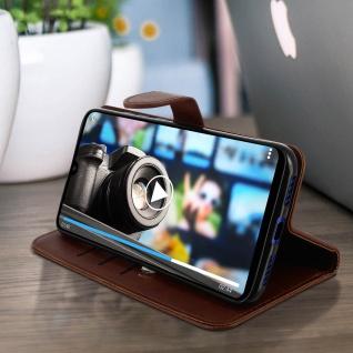 Buffalo Kunstlederetui Xiaomi Redmi 7, Standfunktion & Kartenfächer - Braun - Vorschau 3