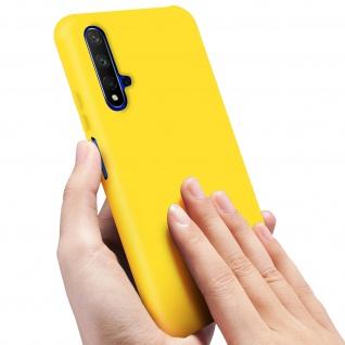 Halbsteife Silikon Handyhülle Honor 20, Huawei Nova 5T, Soft Touch - Gelb - Vorschau 5