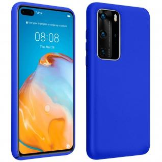 Halbsteife Silikon Handyhülle Huawei P40 Pro, Soft Touch - Blau
