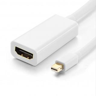 Mini DisplayPort männlich / HDMI weiblich weißer Videokabel HD 1920 x 1080p