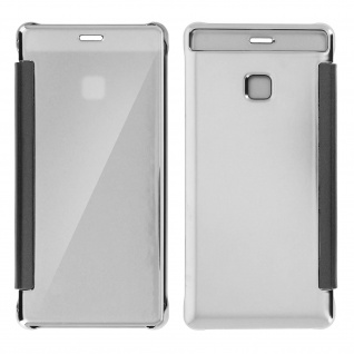 Silberfarbene Clear View Schutzhülle für Huawei P9