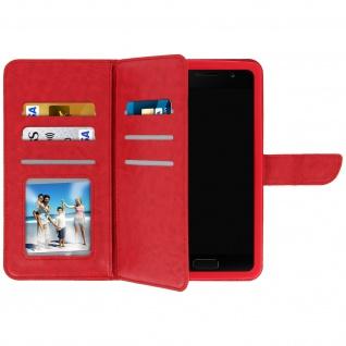 Universal Flip Cover Geldbörse mit 6 Kartenschlitzen Größe 3XL â€? Rot