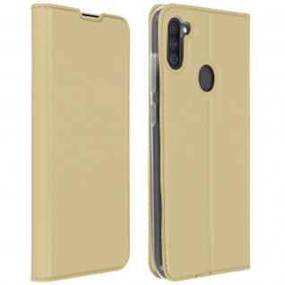 Klappetui mit Kartenfach & Standfunktion Samsung Galaxy A11 - Gold