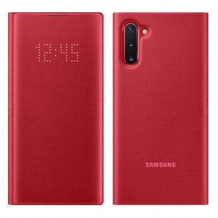 Original Samsung LED-View Cover + Kartenfach Samsung Galaxy Note 10 - Rot