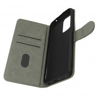 Klappetui mit Geldbörse, Kunstlederhülle für Oppo A94 5G ? Grau