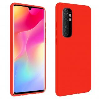 Halbsteife Silikon Handyhülle Xiaomi Mi Note 10 Lite, Soft Touch - Rot
