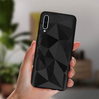 Holographische Handyhülle für Samsung Galaxy A50, Prism Design, Mocca - Schwarz - Vorschau 4