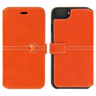 Façonnable Flip-Cover für Apple iPhone 7 / iPhone 8 - Kartenfach - Orange