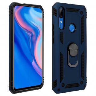 Hybrid Handyhülle mit Ring Huawei P Smart Z/Y9 Prime 2019, Honor 9X - Dunkelblau