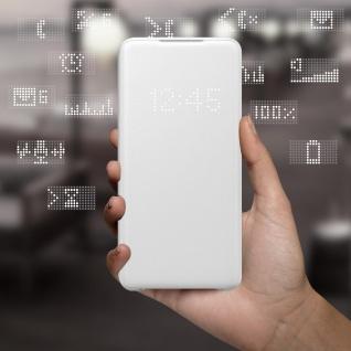 Original Samsung LED-View Cover + Kartenfach Samsung Galaxy S20 - Weiß - Vorschau 3