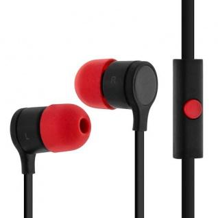 HTC - Original Schwarz/ Rot in-ear Kopfhörer mit Fernbedienung - Mikrofon