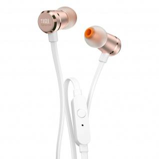 In-Ear-Kopfhörer JBL T290 Pure Bass Sound, Mikrofon + Fernbedienung - Rosegold