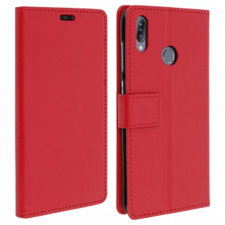 Asus ZenFone Max M2 Flip-Cover mit Kartenfächern & Standfunktion - Rot