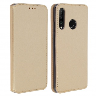 Kunstleder Cover Classic Edition Huawei P30 Lite - Gold