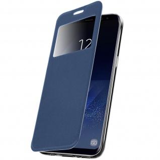Schutzhülle mit Sichtfenster und Standfunktion für Samsung Galaxy S8 - Blau