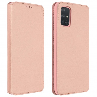 Kunstleder Cover Classic Edition Samsung Galaxy A71 - Rosegold