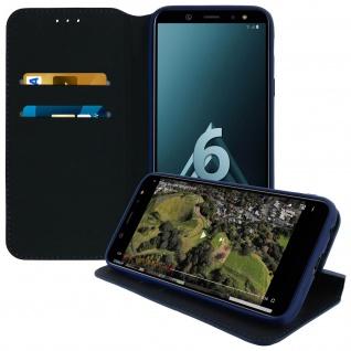 Flip Cover Geldbörse Classic Edition für Samsung Galaxy A6 - Blau
