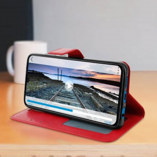 Flip Stand Cover Brieftasche & Standfunktion für Huawei P30 - Rot - Vorschau 4